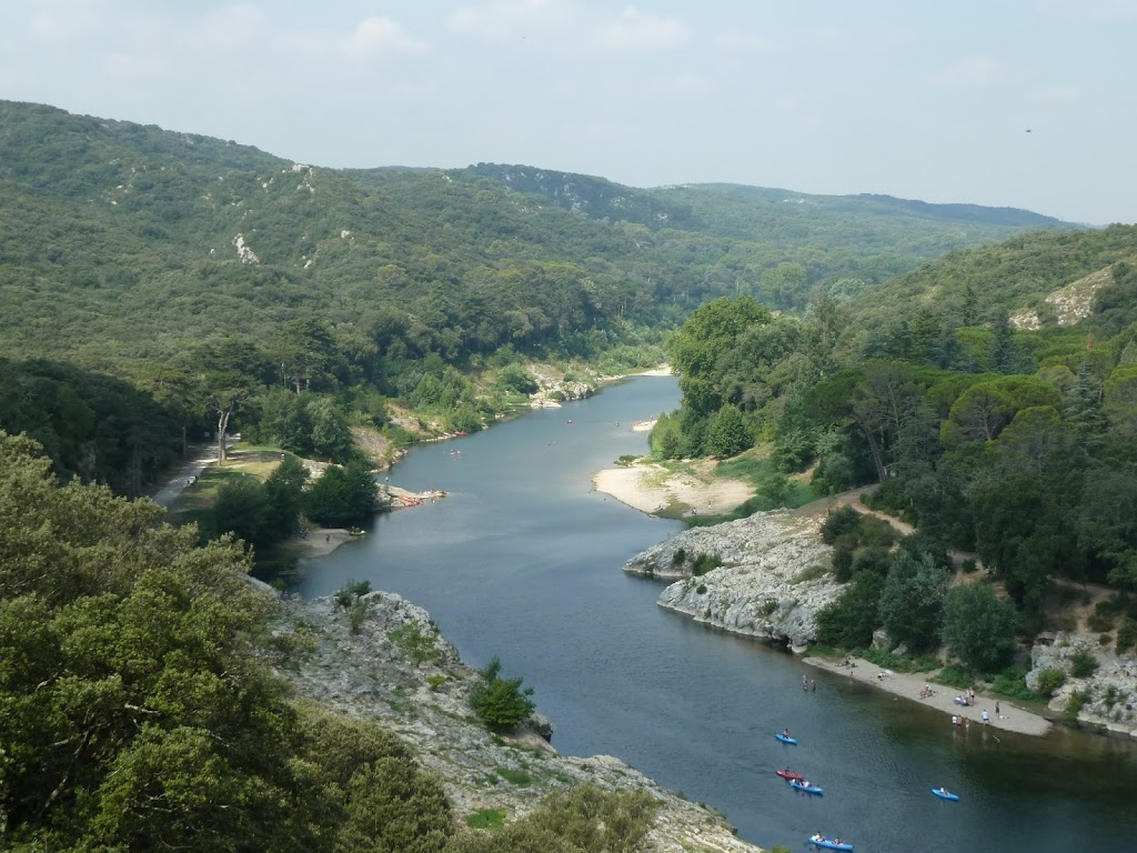 View from the top of Pont du Gard