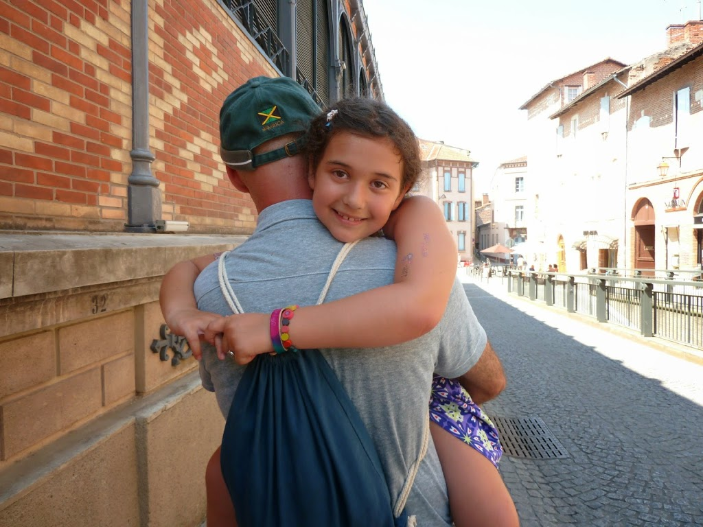 The last time Sophie's Papa carried her was when we visited Albi, France in 2013