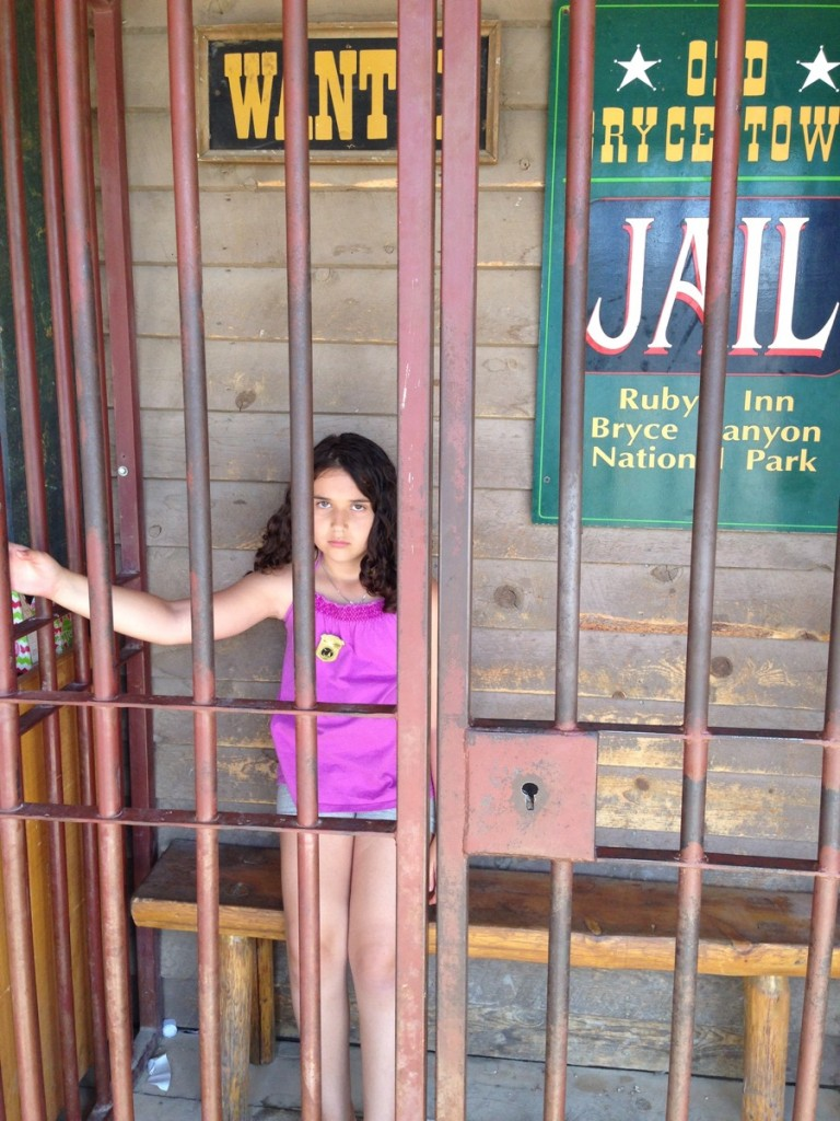 Sophie in Jail near Bryce Canyon